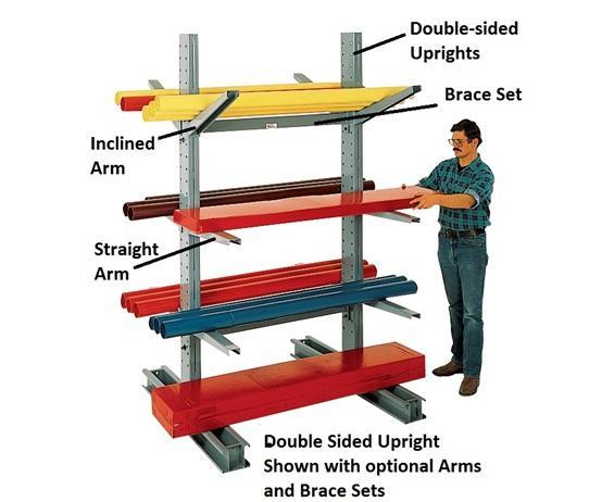 ARMS FOR SERIES 1000 MEDIUM-DUTY CANTILEVER RACKS