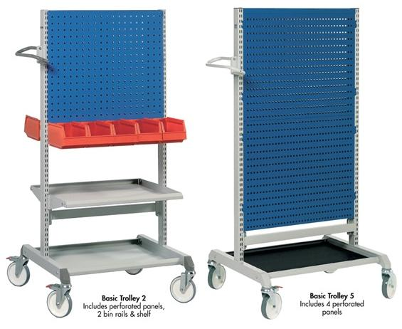 PERFORATED TOOL BOARD TROLLEYS