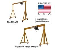 PORTABLE FIXED & ADJUSTABLE HEIGHT STEEL GANTRY CRANES